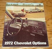 Original 1972 Chevrolet Car And Truck Accessory Options Deluxe Sales Brochure 72