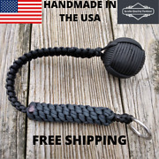 2 Inch Paracord Monkey Fist Black 18 Inches Long Usa Handmade