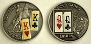 King/queen Of Hearts And Clubs Poker Texas Hold'em Two Coins Set Of Palau 2009-10