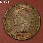 1907 Indian Head Cent Vch Bu Rb Free S/h After 1st Item