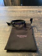 Valentino Beauty Spiked Silicone Bracelet W/drawstring Bag Limited Edition New