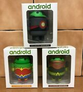 Android Mini Collectible Special Edition - Cyborg Aquaman Wonder Woman Figures