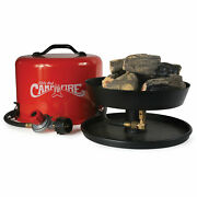 Olympian Little Red Outdoor Portable Tabletop Propane Heater Fire Pit 11.25 Inch