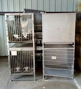 Lot Of 4 Hoeltge Inc Stainless Steel Dog Cat Animal Veterinary Shelter Cages