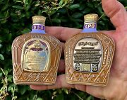 Crown Royal Liquor Bottle Navy Chief Cpo Mess Challenge Coin And Bag Fbi Cia Seals