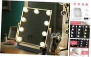 Vanity Mirror With Lights Hollywood Lighted Makeup Mirror With 9 Dimmable Led
