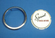 Nos 1946-48 Plymouth Special Deluxe Radio Bezel Emblem With Trim Ring Sct11