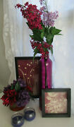 Home Target Set 2 Vases With Floral 2 Frames 2 Candles Burgundy And Lilac