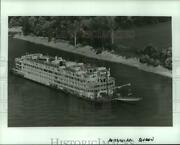 1988 Press Photo Aerial View Of The Sternwheeler Mississippi Queen - Not06604