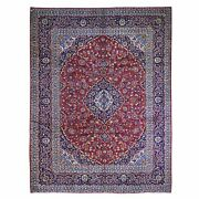 9and0399x12and0392 Semi Antique Farsian Kishoon Full Pile Hand Knotted Wool Rug R66262