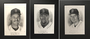 Lot Of 3 Original Autographed Graphite Pencil Drawings Of Christopher Paluso
