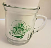 Vintage Promo The Jetsons Family Flying In Spaceship Glass Mug Read