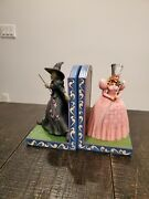 Rare Set - Jim Shore Witch Bookends - Glinda And Wicked Witch 4049683 4051363
