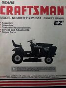 Sears Craftsman 15.0 Hydro 42 Mower Lawn Tractor Owner And Parts Manual 917.256551