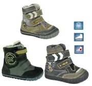Dd Step Quality Real Leather Kids Winter Shoes Arch Support Boys Size Uk7 / Eu24