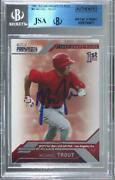 2009 Tristar Prospects Plus Mike Trout 20 Jsa Certified Encased By Bgs Auto