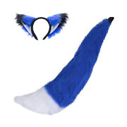 Pawstar Fox Yip Ears And Full Tail Set - Furry Costume Cosplay Cat Wolf Kitty 4001