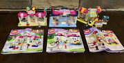 Lego Friends 41006 Downtown Bakery, 41007 Heartlake Pet Salon And Party Shop 41132