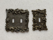 Double Toggle Switch Wall Plate/switch Plate/cover, Tumbled Antique Brass