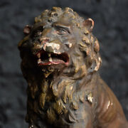 Early 19th Century Italian / Spanish Carved Anthropomorphism Lion Figure