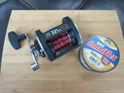 Penn 321 Lh Fishing Reel Made In Usa And Fishing Line Lot16442
