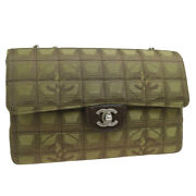 Travel Line Quilted Double Chain Shoulder Bag 7125686 Brown 39830