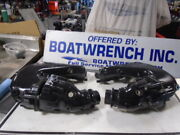 Volvo Penta Aluminum Exhaust Manifolds And Risers V/6 Set Of 4 Components Used