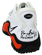 Barry Sanders Signed Nike Air Zoom White 21 Shoe Left Foot W/ht'88 - Ss Coa