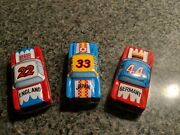 Three 3 Vintage Tin Litho Toy Racing Cars 6544 Made In Japan Old Original