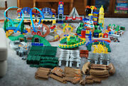 Geotrax - Lot Of 315+ Buildings Train Engines Controllers Track Cars More