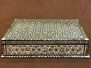 Handmade Egyptian Wood Jewelry Box Inlaid Mother Of Pearl 43 Cm