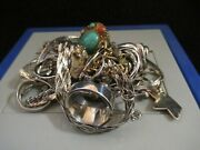 Vintage Sterling Silver Jewelry Lot Rings Bracelets Earrings And More