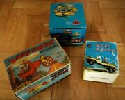 Vintage Rare Greek Hard Plastic Lot Wind Up Toys By Priftis From 70s Mib