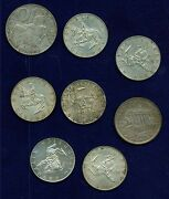 Austria 1925-1968 Assorted Silver Coins Group Of 8