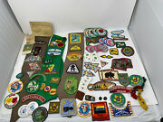 Girl Boy Scout Lot Of Patches Pins - Daisy / Brownie / Junior / Senior Sashes