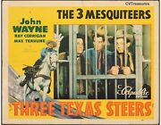 Three Texas Steers Vintage Western Movie Poster Half Sheet John Wayne 1939