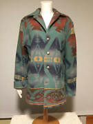 Fantastic Vintage Polo Country Indian Blanket Wool Coat Made In Usa