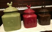 La Dolce Vita Turino  Rooster Canisters Choose 1 Or All 1+ Ship
