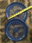 2 Plastic Paper Plate Holders- Fits 9 Inch Standard Paper Plates, Picnic Service