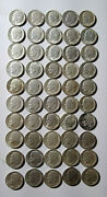 Lot Of 50 Roosevelt Dimes All 1964 Silver Ten Cent Coins Mg