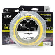 Rio Gold Intouch Freshwater Fly Fishing Line Floating Moss/grey/gold Wf5 Wf6 Wf7