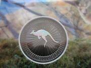 2017 Limited Edition 1 0f 500 .999 Silver Kangaroo Coin Ruthenium And Hologram Cc1