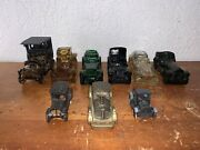 Lot Of 9 Vintage Avon Decanter Bottles Cars And Diecast Cars