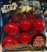 2x Disney Star Wars 8ct Sticker Filled Hunting Surprise Egg Party Gift Easter