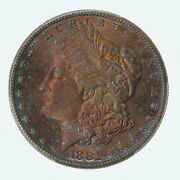 1881-s Morgan 1 Pcgs Cac Certified Ms66 Premium Quality Color Toned Obverse