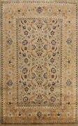 Floral Agra Traditional Oriental Area Rug Hand-knotted Vegetable Dye Carpet 9x12