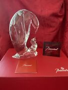 Nibnew Flawless Baccarat France Crystal Mother Penguin And Baby Figurine Sculpture
