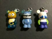 3- Disney Vinylmation Jr 1.5 Finding Nemo Sheldon Seahorse And Bruce And Cutester