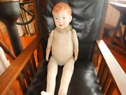 Antique Composition Jointed Doll 30 1800's Clown