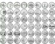 1999-2008 Us State Quarters Complete Set Of 50 Pandd Mixed.